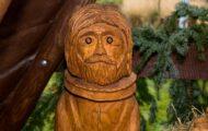 Josef dřevěný betlém