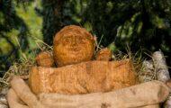 Ježíšek dřevěný betlém