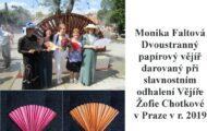 Faltová Monika Dvoustranný vějíř